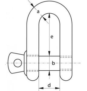 D-sluiting-borstbout-wire